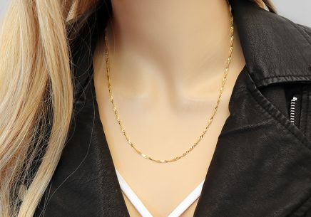 "2mm/0.08'' Gold Chain ""Singapore"" - IZ9236"