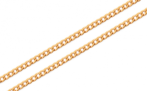3mm/0.12'' Gold Curb Chain - IZ7728