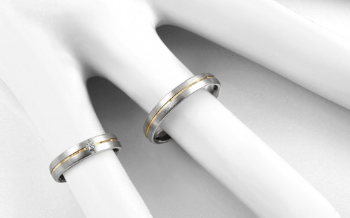 4mm/0.16'' Cubic Zirconia Wedding Bands - STOB267
