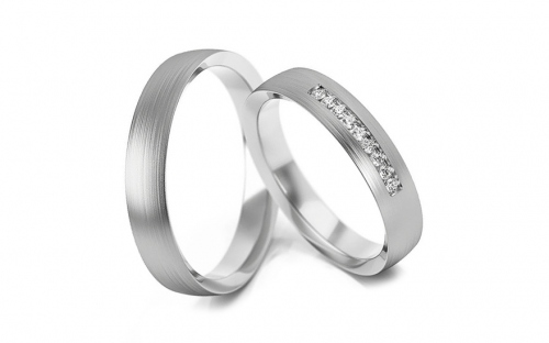 4mm/0.16'' Cubic Zirconia Wedding Bands - STOB279