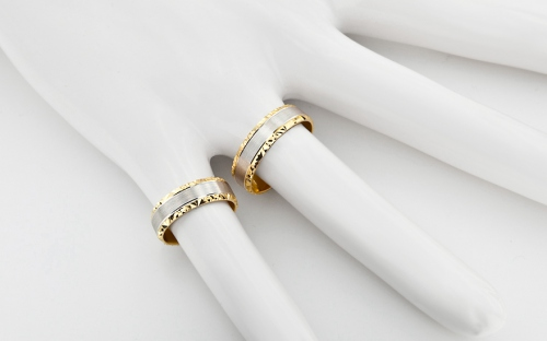 5mm/0.20'' Two Tone Wedding Bands