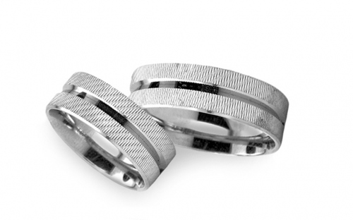 5mm/0.20'' White Gold Wedding Bands - RYOB261
