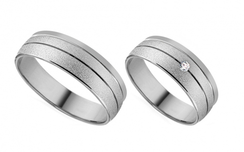 6mm/0.24'' Zircon Wedding Bands - RYOB205