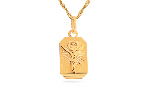 A gold pendant with torture on the plate - IZ8487