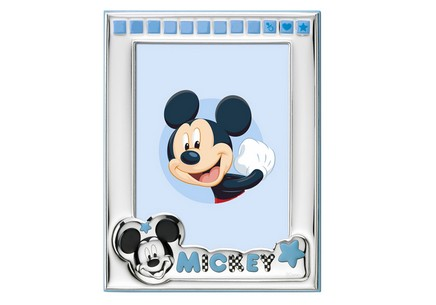 Mickey photo frame Silver plated