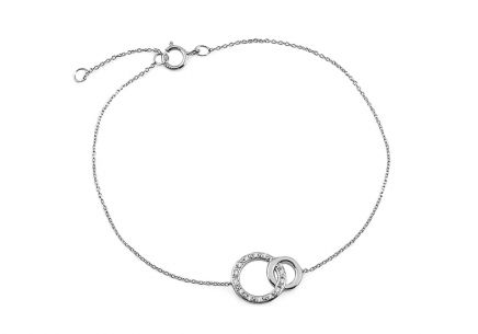 White gold bracelet with diamond circles 0.030 ct