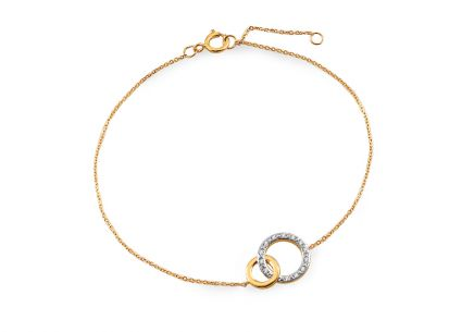 Gold bracelet with brilliant circles 0.030 ct