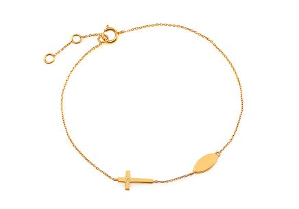 Gold Brilliant Cut Accent Bracelet