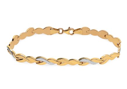 Gold two tone bracelet with engraving