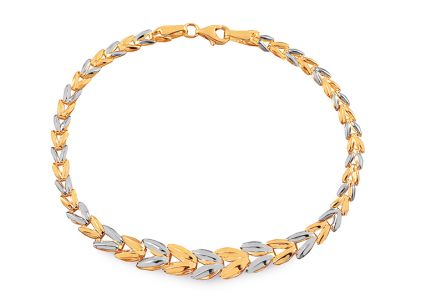 Gold two-tone women's bracelet