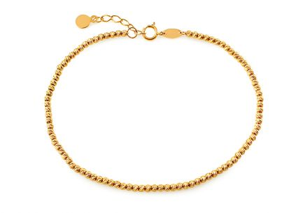 Gold ball bracelet with engraving