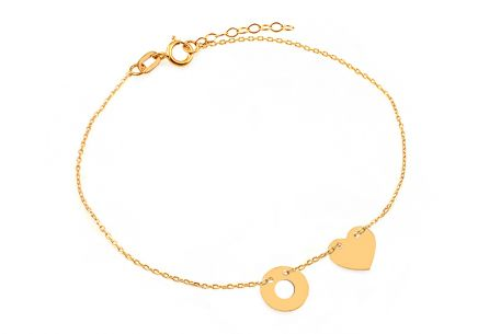Gold chain bracelet with Celebrity pendants