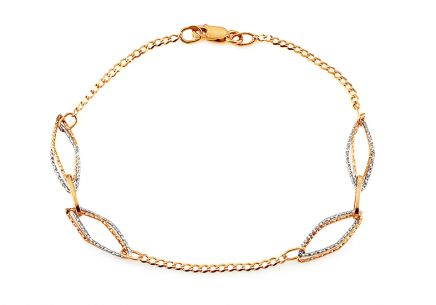Two tone gold hand chain