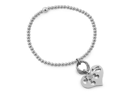 Ladies silver bracelet heart