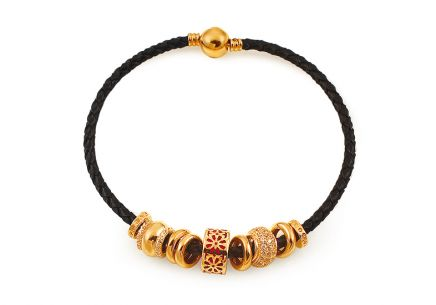 Palmyra - Exclusive Bracelet with Gold Charms