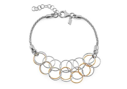 fashion design silver bracelet for ladies