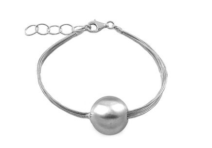 Sterling Silver Bracelet with Ball  for women