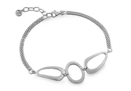 Rhodium plated 925Silver bracelet Ellipse