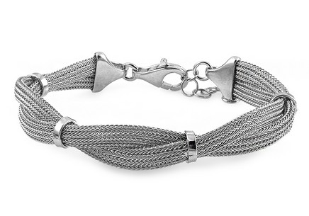 Silver intertwined bracelet