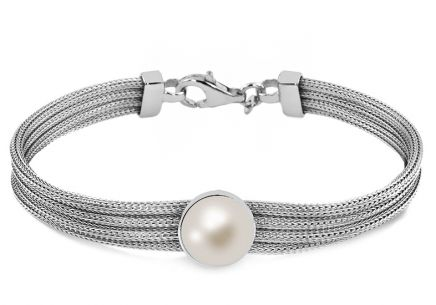 Rhodium plated Silver bracelet for Ladies
