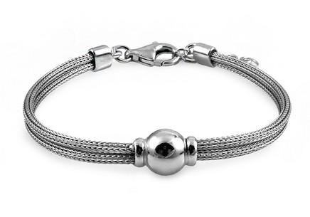 gold plated Silver bracelet with ball
