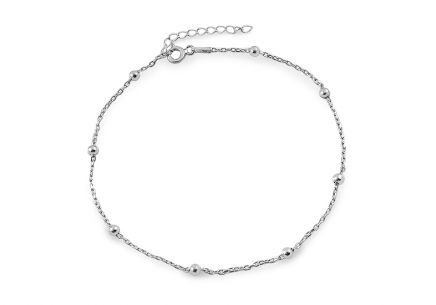 Silver bracelet with balls