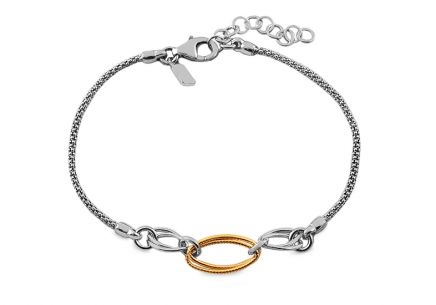 Women's Gold over Silver Bracelet