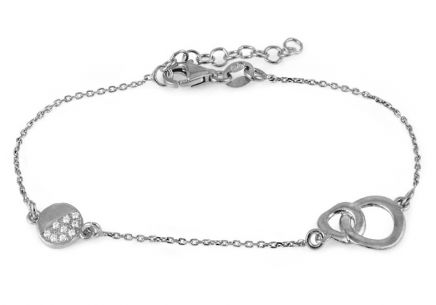 Women's Sterling Silver Bracelet with Circles