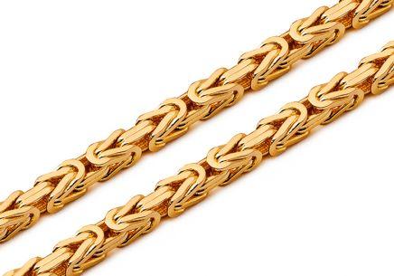 Gold Chain Royal pattern 4 mm