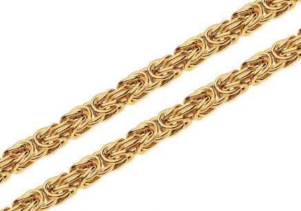 Gold chain royal pattern 5mm