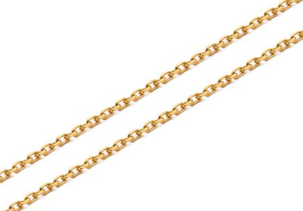 "1.5mm/0.059'' Gold Chain ""Anker"""