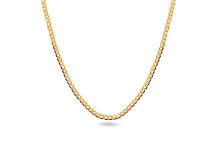 1.5mm/0.06'' Gold Curb Chain