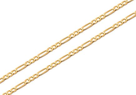 1.5mm/0.06'' Gold Figaro Chain