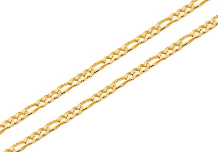 2mm/0.08'' Gold Figaro Chain