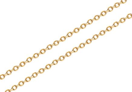 Gold cable chain 1.7 mm