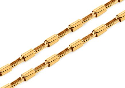 Gold Cylinder chain- 5 mm Cylinder