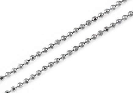 Silver Beads Chain 1 mm