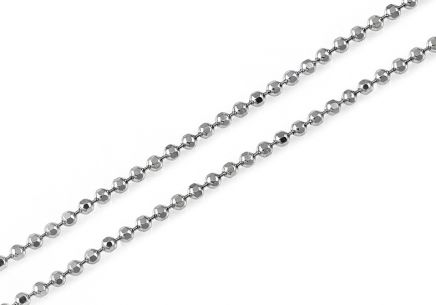 Sterling Silver chain Beads 1.2 mm