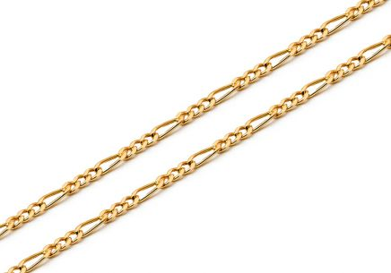 1mm/0.06'' Gold Figaro Chain