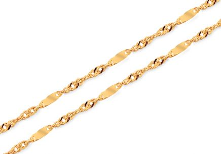 "1mm/0.039'' Gold Chain ""Singapore"""