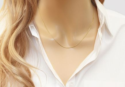 "1mm/0.04'' Gold Chain ""Anker"""