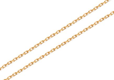 Gold chain Anker 1 mm
