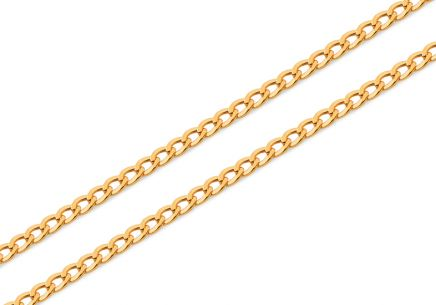 3mm/0.12'' Gold Curb Chain