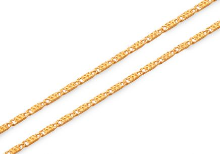 Elegant gold chain 1.1 mm