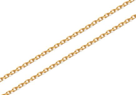Gold chain Anker 0.7 mm