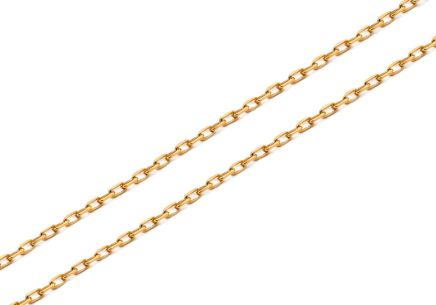 Gold chain Anker 0.8 mm