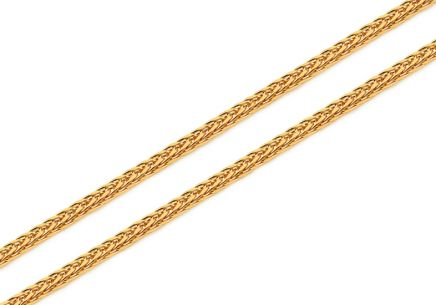 Fox gold chain - fox tail 1 mm