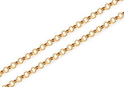 Gold bead chain 3 mm