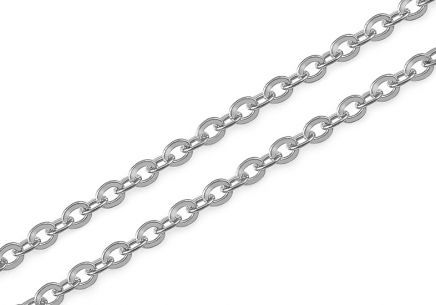 White Gold Rolo Chain 1.2 mm