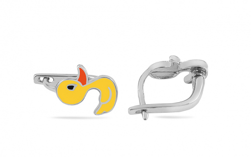 Silver Ducks girls earrings - IS3688
